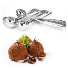 Stainless Steel Ice Cream Scoop - Bright Silvery Grey