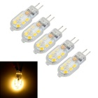 Marsing 5pcs G4 3W 150lm Warm White Light 12-SMD LED Bulb (AC/DC 12V)