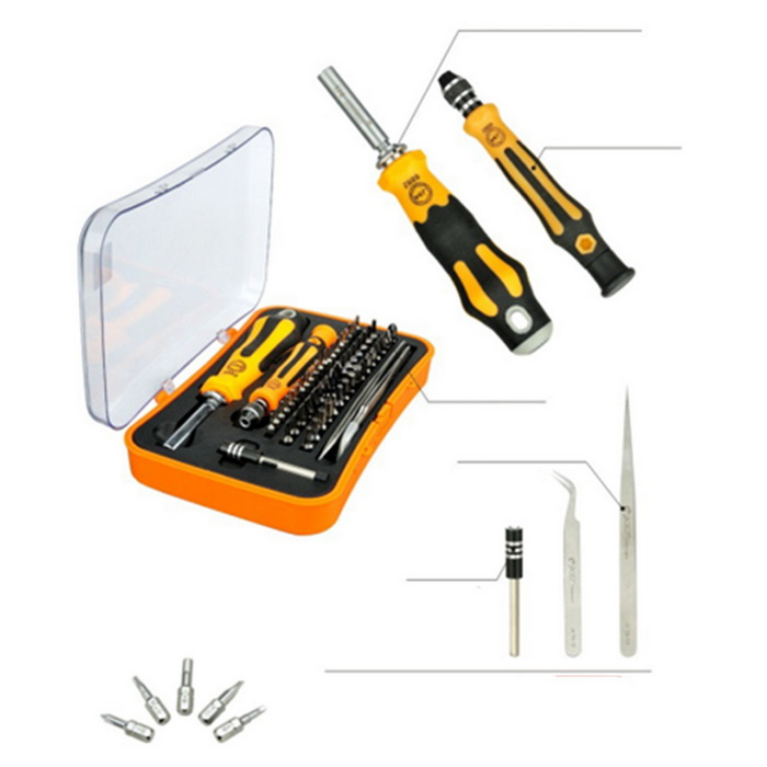 Jm-6092b 58-in-1 Portable Multi-function Magnetic Screwdriver Bit Set