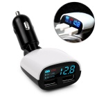 5V 3.4A Dual USB Car Charger Adapter LED Voltage Monitor Display