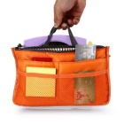 Storage Bag / Organizer / Double-zipper Cosmetic Pocket - Orange