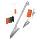 FURA Stainless Steel Survival Scaling Knife - Silver