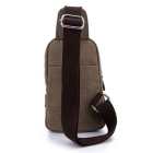 LOCAL LION 1319 Classic Fashion Canvas Chest Bag - Khaki (2.5L)