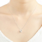 SILVERAGE Sterling Silver Weave Star Pendant Necklace