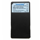 ismartdigi EL19 Battery + Micro USB  Camera Battery Charger - Black