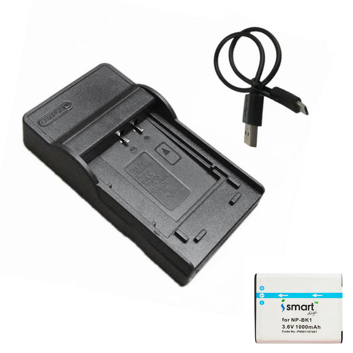 ismartdigi BK1 Battery + Micro USB Camera Battery Charger