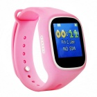 Touch Screen Smart Watch SOS Call Google Map GPS Tracker - White +Pink