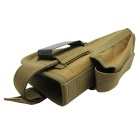 Tactical Pistol Gun Holster Magazine Slot Holder - Brownish Yellow
