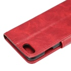 Premium PU Case w/ Card Slots for IPHONE 7 - Red