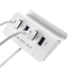 H-506 Multi-function 4-USB OTG Hub / Mobile Phone Holder - White