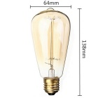 ST64 E26 40W Warm White Vintage Dimmable Tungsten Filament Bulb (6PCS)