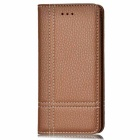 PU Automatic Close Full Body Case w/ Card Slots for IPHONE 7 - Brown
