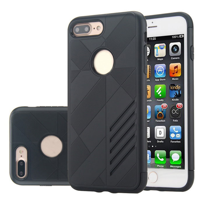 Dual Layer PC + TPU Case for IPHONE 7 PLUS - Black