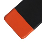 Protective PU + PC Back Case Cover for IPHONE 7 - Black + Orange