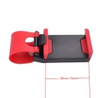 Adjustable Car Steering Wheel Mount Holder for IPHONE7 / 7 Plus - Red