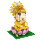 Cute Cartoon Style Small Particles Assembled Toy - Yellow