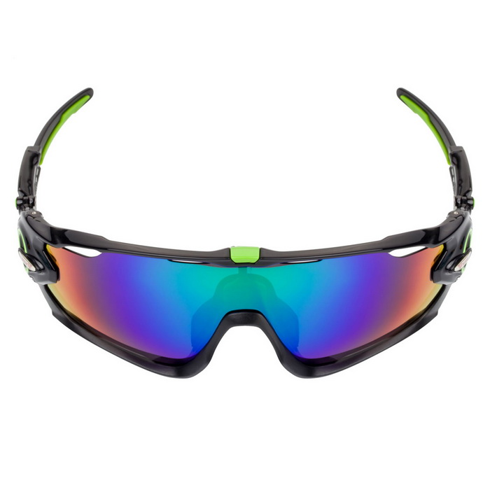 WG9270 Polarized Sport Sunglasses - Green REVO + Black