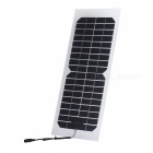 ultralight semi- flexível 10W 12V saída do carregador solar com cabo DC