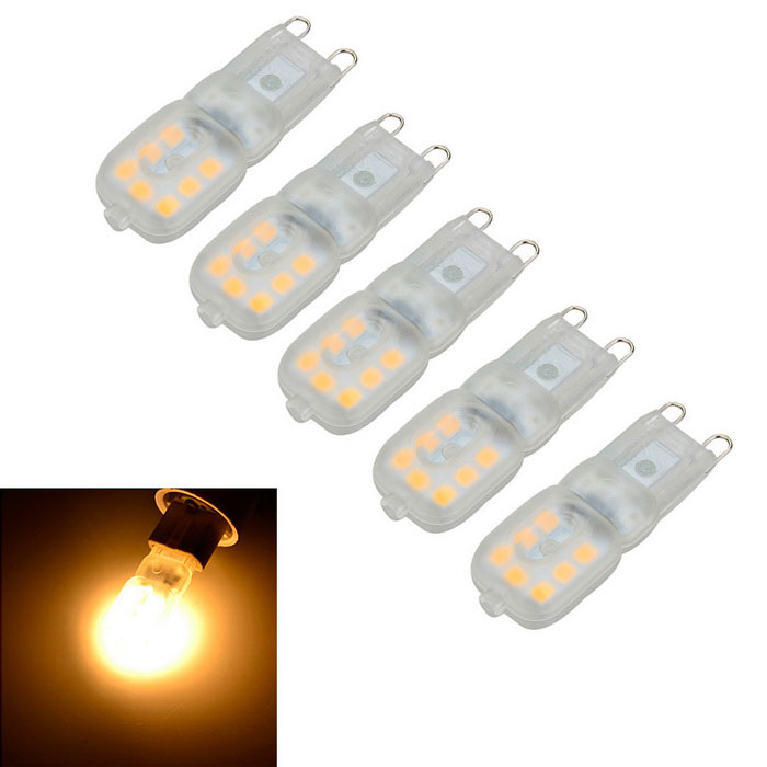 Marsing G9 3W 200lm regulable cálidos bulbos pin luz blanca 14 -LED ( 5PCS)