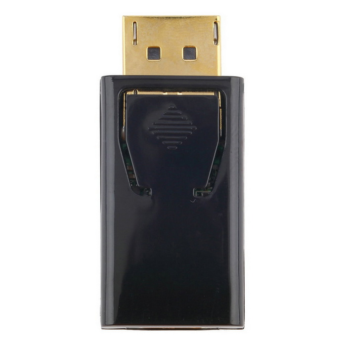 Display Port DP Male to HDMI Female Connector Adapter - Black + GoldenLaptop/Tablet Cable&amp;Adapters<br>Form ColorBlack + GoldModelN/AQuantity1 DX.PCM.Model.AttributeModel.UnitShade Of ColorBlackMaterialABSInterfaceOthers,DisplayPort , HDMITypeLaptopsPacking List1 * DP to HDMI Adapter<br>