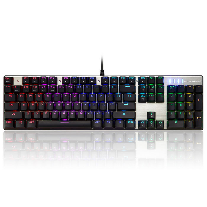 Motospeed CK104 RGB Backlit Mechanical USB Blue Switch Gaming Keyboard