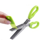 Creative Convenient Kitchen Tool Small Scissors - Green + Silver