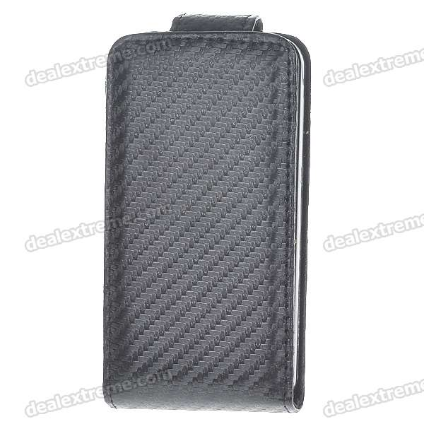 Protective PU Case for iPhone 4 - Black