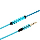 Hat-Prince 3.5mm Jack Stereo Earphones w/ Microphone - Blue