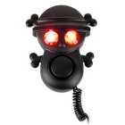 Bike Electronic Warning Horn Skeleton Loud Speaker - Black