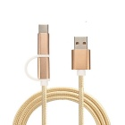 Cwxuan USB 3.1 Type C / Micro USB Data Cable - Champagne Gold (1m)