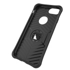 TPU + PC Back Cases w/ Holder Stand for IPHONE 7 - Silver + Black