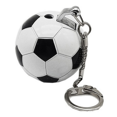 SYS0130 Creative Football Style Key Chain Lighter - White + Black
