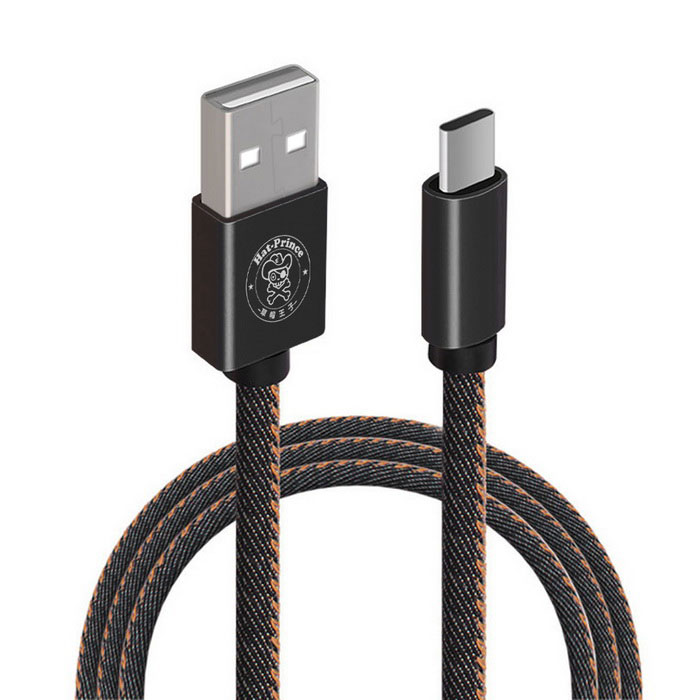 Hat-Prince Jeans Style Type-C Data / Charger Cable 2.4A - Black