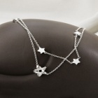 SILVERAGE Fine Jewelry Braided Star Two Layered Link Bracelet