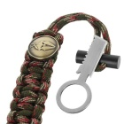 FURA Survival Emerency Bracelet w/ Fire Starter - Multicam Tropic