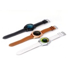 K89 Smart Watch Leather MTK2502C Heart Rate Monitor for Android IOS