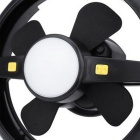 USB Rechargeable LED Fan Camping Light Neutral White - Black + Grey