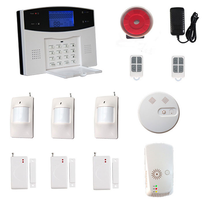 GSM/PSTN Wireless Alarm System Smoke Detector Gas Leak Sensor