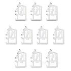 Tough Steel Survival Tool Cards Multifunctional Tool - Silver (10PCS)