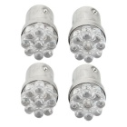 QOOK 1157 BA15S Red 9-LED Tail Parking Stop Lights (4PCS)