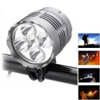 Super 5LED 3-Mode White LED Bike Light with Battery for Bicycle Electric Bicycle Electric Cars...