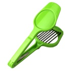 Thickening Fruit Egg Lentinus Chip Cutting Device - Silver + Green