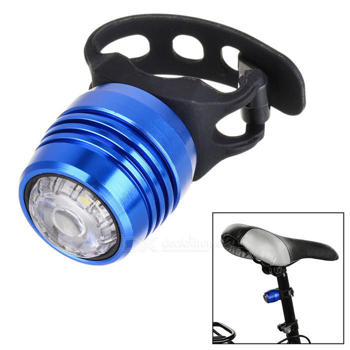 Bicycle 4-Mode Neutral White Light USB Taillight Warning Lamp - Blue