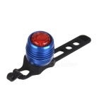 Bicycle 4-Mode Red Light Taillight Warning Light - Red + Blue