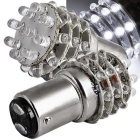QOOK Car 36-LED Tail Rear Brake Turn Cold White Bulb Lamps (2PCS)
