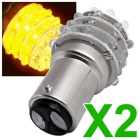 QOOK Tail Rear Brake Turn Yellow 36-LED Light Bulb Lamps (12V/2PCS)