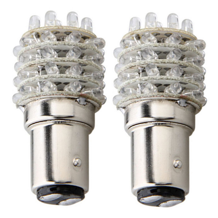 QOOK 1157 1016 P21/5W T25 Red 45-LED Tail Stop Light Bulbs (2PCS)
