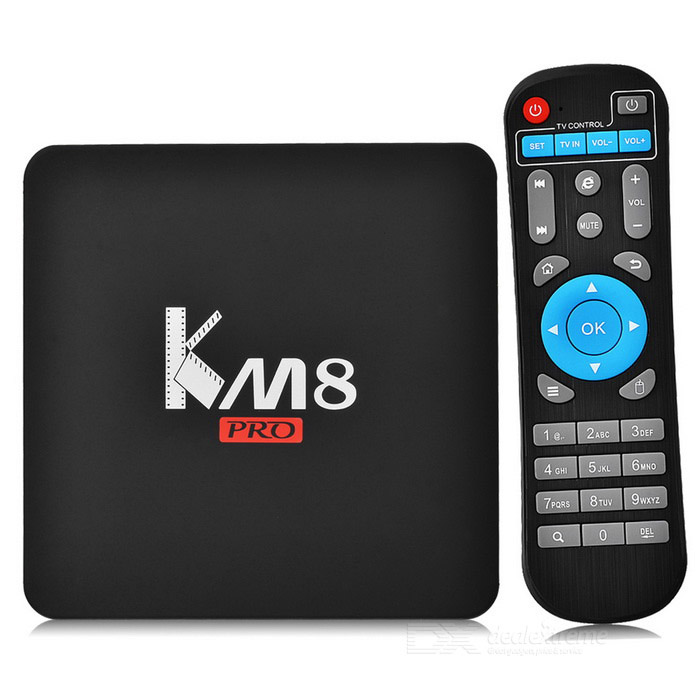 KM8 PRO android 6.0 Amlogic S912 octa -core BOX TV w / 2 GB ROM, RAM de 16 GB