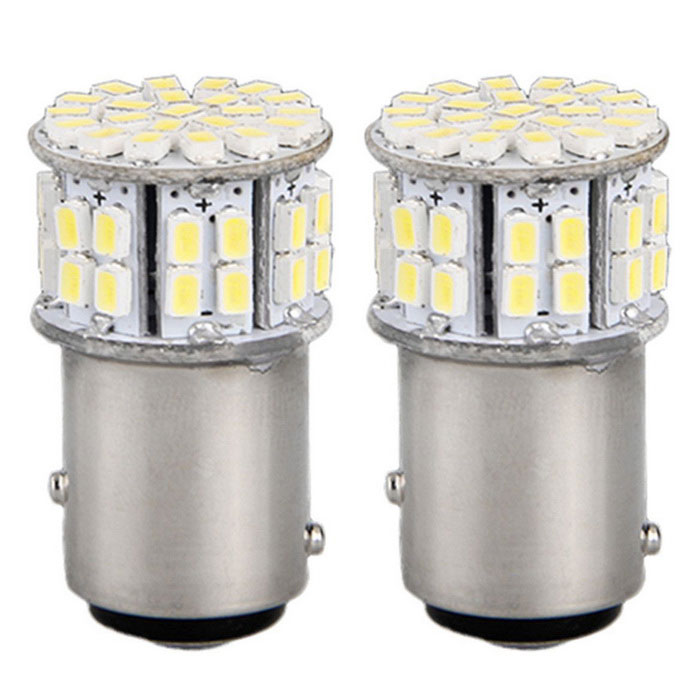 QOOK JHI767 1157 BAY15D 50-SMD LED Tail Parking Stop Lights (2PCS)