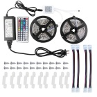 2*5M 5050 RGB Led Strip Lights Kit Waterproof with 44key IR Controller and 12V 6A Power Supply